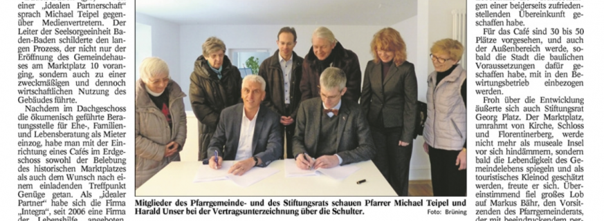 Pfarrer Teipel: Ideale Partnerschaft